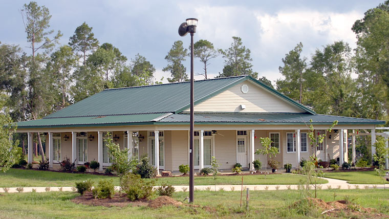 Steel frame housing